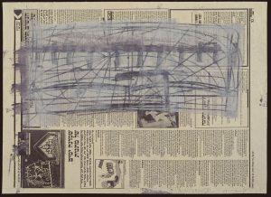 משה קופפרמן, עבודה על נייר עיתון, 1990