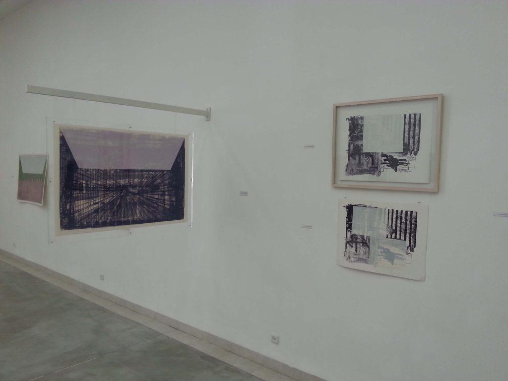קופפרמן, תל אביב, 1984 - עשרה קבין של צבע - חלל התערוכה