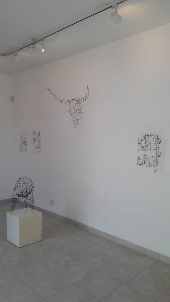 קובי סיבוני - קוים מפלסי דרך - חלל התערוכה